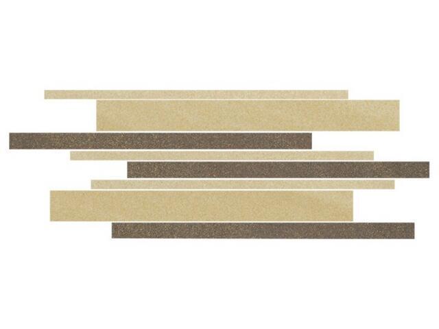 Mozaika Kando beige-brown-giallo paski 14,7x41