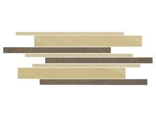 Mozaika Kando beige-brown-giallo paski 14,7x41 Opoczno