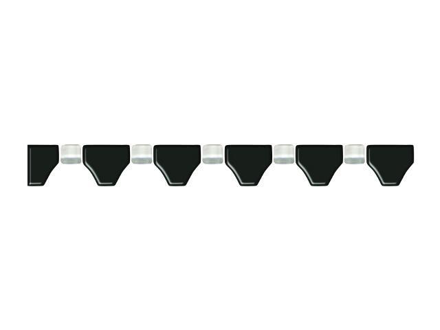 Mozaika Secret Nero element wykończeniowy B 3,3x31,4 Paradyż