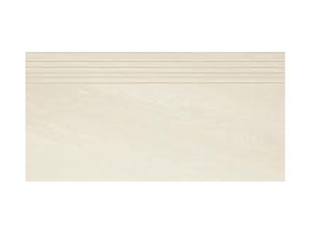 Gres Masto Bianco stopnica nacinana 29,8x59,8 półpoler Paradyż