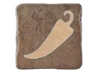 Gres centro Real Stone brąz chilli 10,9x10,9 Opoczno