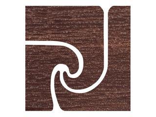 Narożnik gresowy Ancona brown fala 9,6x9,6 Cersanit