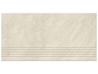 Gres Saturn biały poler stopień 29,5x59,5 Opoczno