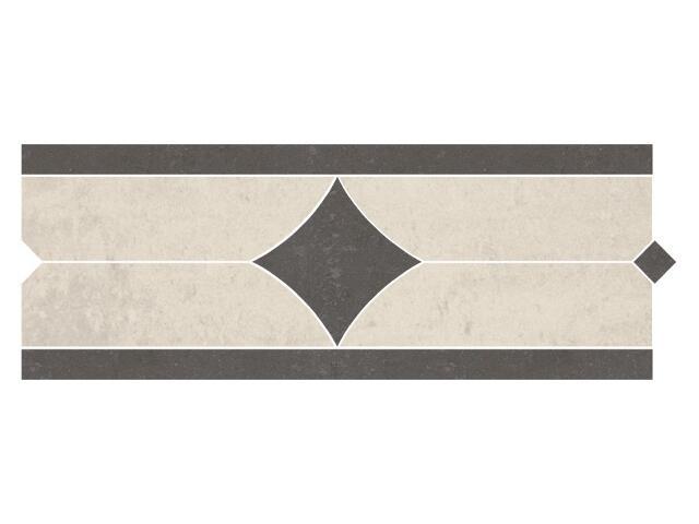 Listwa gresowa Calabria nero karo 1 11x29,55