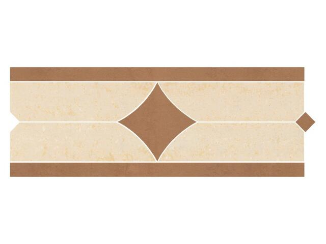 Listwa gresowa Calabria brown karo 11x29,55