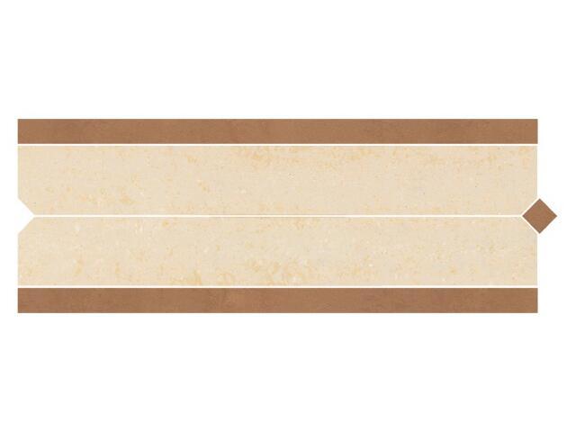 Listwa gresowa Calabria brown prosta karo 11x29,55