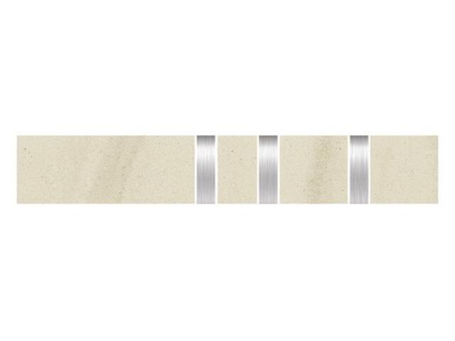 Listwa gresowa Kando bianco metal 5,3x29,55