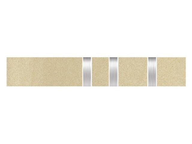 Listwa gresowa Kando beige metal 5,3x29,55