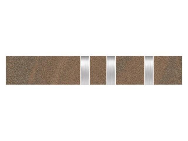 Listwa gresowa Kando cotto metal 5,3x29,55