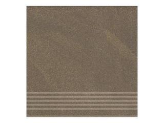 Gres Kando brown stopnica 29,55x29,55 Opoczno