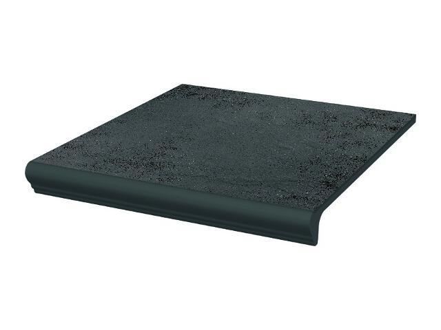Klinkier Semir Grafit stopnica z kapinosem prosta strukturalna 30x33 Paradyż