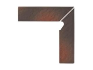 Klinkier Shadow brown cokół schodowy prawy strukturalny 3-d 30x8 Opoczno