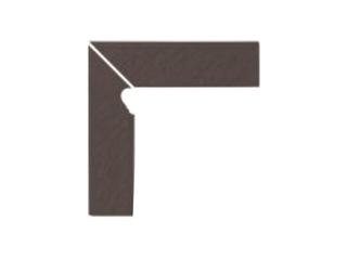 Klinkier Simple brown cokół schodowy lewy strukturalny 3-d 30x8 Opoczno