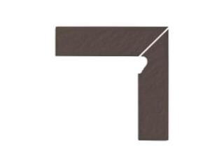 Klinkier Simple brown cokół schodowy prawy strukturalny 3-d 30x8 Opoczno
