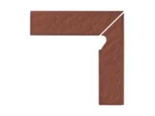 Klinkier Simple red cokół schodowy prawy strukturalny 3-d 30x8 Opoczno