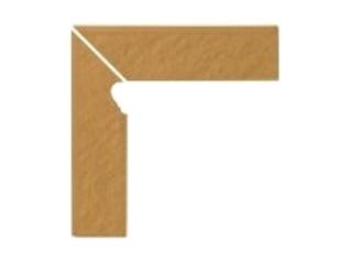 Klinkier Simple sand cokół schodowy lewy strukturalny 3-d 30x8 Opoczno
