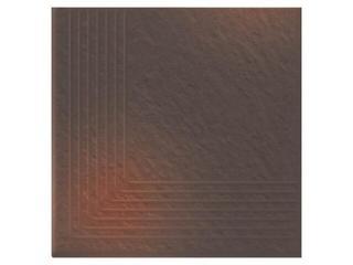 Klinkier Shadow brown stopień narożny strukturalny 3-d 30x30 Opoczno