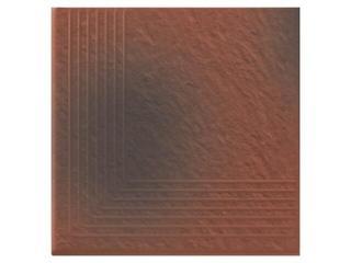 Klinkier Shadow red stopień narożny strukturalny 3-d 30x30 Opoczno
