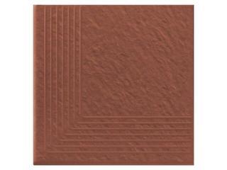 Klinkier Simple red stopień narożny strukturalny 3-d 30x30 Opoczno