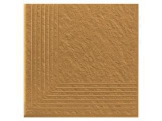 Klinkier Simple sand stopień narożny strukturalny 3-d 30x30 Opoczno