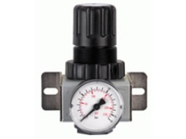 """Reduktor ciśnienia do narzędzi pneumatycznych R180 1/4"""" z manometrem Metabo"""