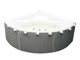 Zabudowa do wanien półokrągłych i prostokątnych z półką 5cm (1.050) Sched-Pol
