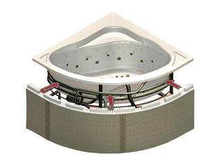 Zabudowa do wanien półokrągłych i prostokątnych z półką 10cm (1.051) Sched-Pol