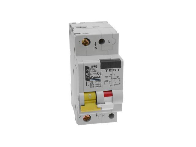 Wyłącznik nadprądowy z zabezpieczeniem nadprądowym JVL5/2 B25/003A Kanlux