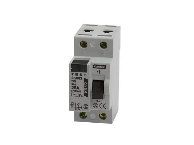 Wyłącznik różnicowoprądowy KR6 63/003/2 Kanlux