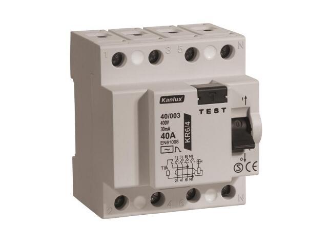 Wyłącznik różnicowoprądowy KR6 40/003/4 Kanlux