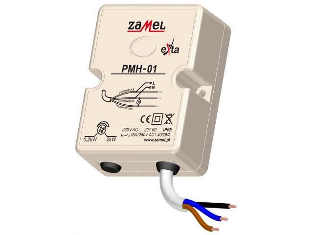 Przekaźnik termiczny i przeciążeniowy ogranicznik mocy 230V 0,2/2kW IP65 typ: PMH-01 Zamel