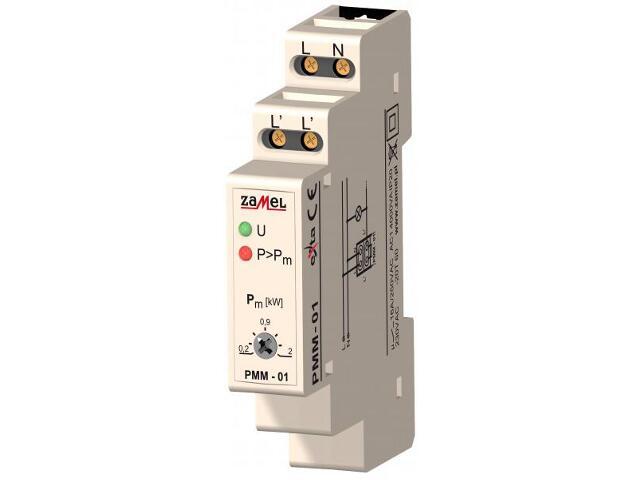 Przekaźnik termiczny i przeciążeniowy ogranicznik mocy 230V 0,2/2kW typ: PMM-01 Zamel