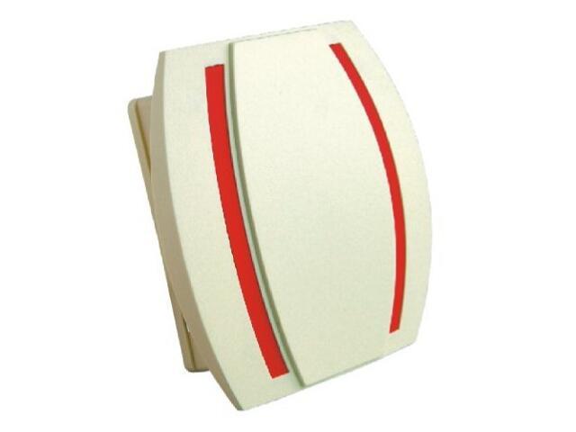 Dzwonek przewodowy KAMELEON, beżowo-czerwony Videotronic