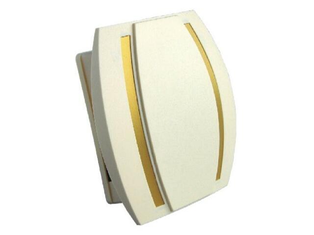 Dzwonek przewodowy KAMELEON, beżowo-złoty Videotronic