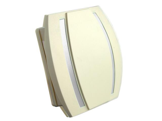 Dzwonek przewodowy KAMELEON, beżowo-srebrny Videotronic
