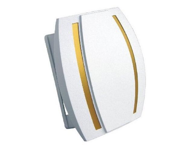 Dzwonek przewodowy KAMELEON, biało-złoty Videotronic