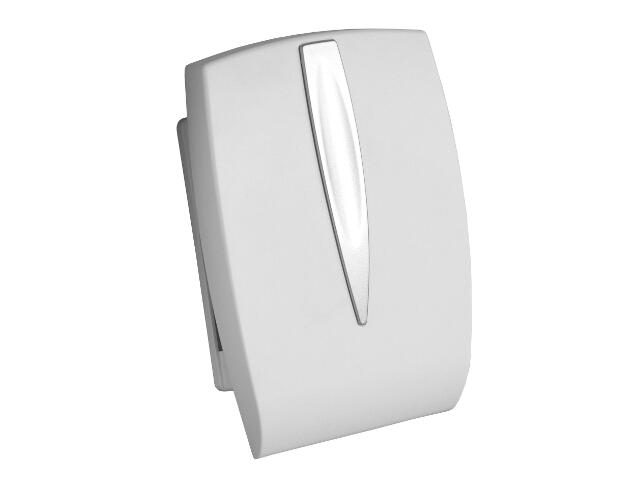Dzwonek przewodowy DWUTONOWY 053 typ dźwięku bim-bam, biało-srebrny Videotronic