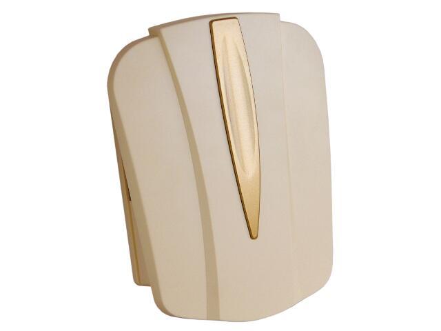 Dzwonek przewodowy DWUTONOWY 043 typ dźwięku bim-bam, beżowo-złoty Videotronic