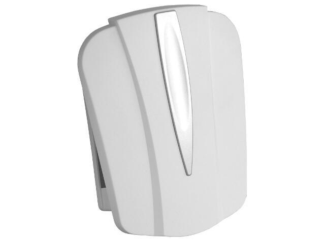 Dzwonek przewodowy DWUTONOWY 043 typ dźwięku bim-bam, biało-srebrny Videotronic
