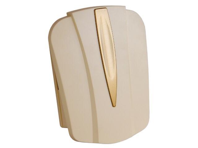 Dzwonek przewodowy BITON 044 typ dźwięku bim-bam, beżowo-złoty Videotronic
