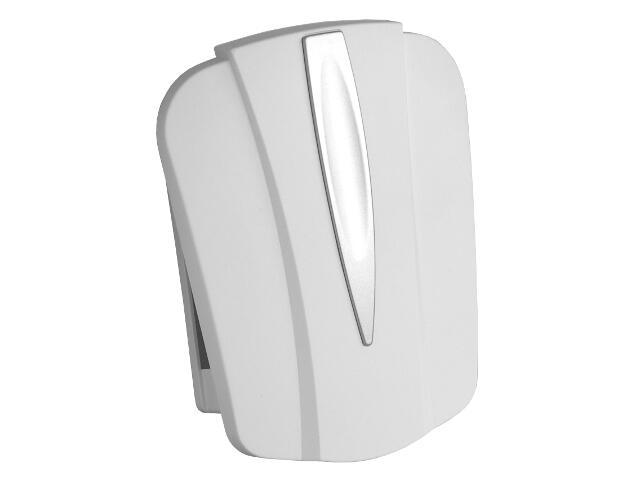 Dzwonek przewodowy BITON 044 typ dźwięku bim-bam, biało-srebrny Videotronic