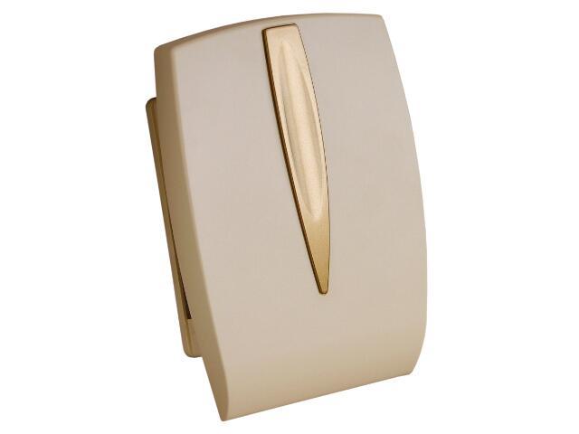 Dzwonek przewodowy BITON 054 typ dźwięku bim-bam, beżowo-złoty Videotronic