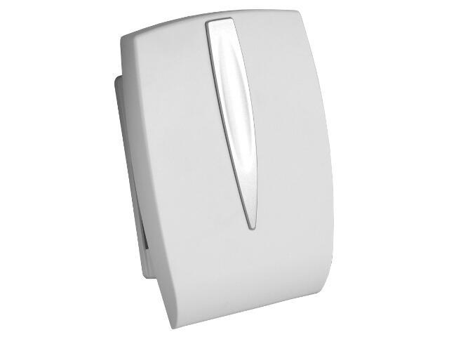 Dzwonek przewodowy BITON 054 typ dźwięku bim-bam, biało-srebrny Videotronic