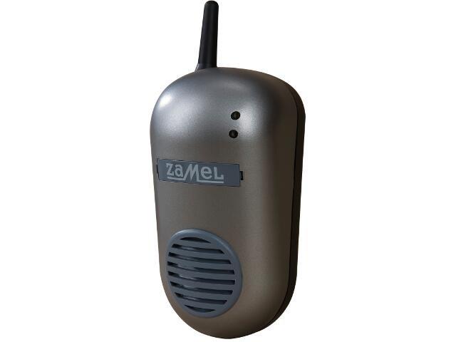 Dzwonek bezprzewodowy BULIK zestaw hermetyczny DRS-982K 230V srebrny Zamel