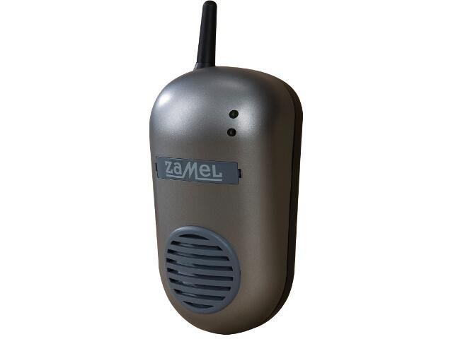 Dzwonek bezprzewodowy BULIK zestaw hermetyczny DRS-982H 230V srebrny Zamel