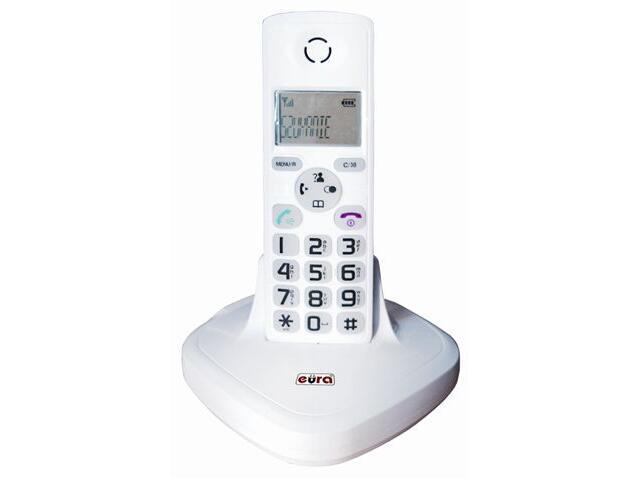 Słuchawka do domofonu z bazą do tele-domofonu CL-3622 biały Eura-Tech
