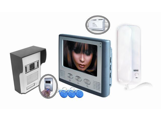 Videodomofon kolorowy z zasilaczem na szynę DIN RL-037ID-1 DIN Eura-Tech