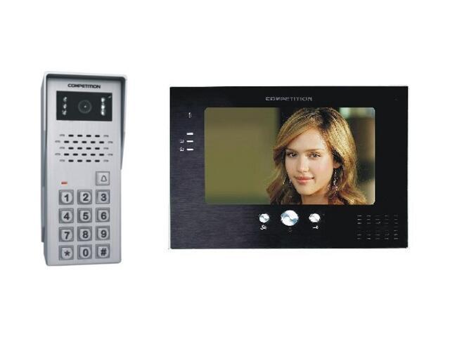 Videodomofon kolorowy 7'' LCD głośn. panor. + zamek szyfr. MT373C-K2+SAC50C-K2 Competition