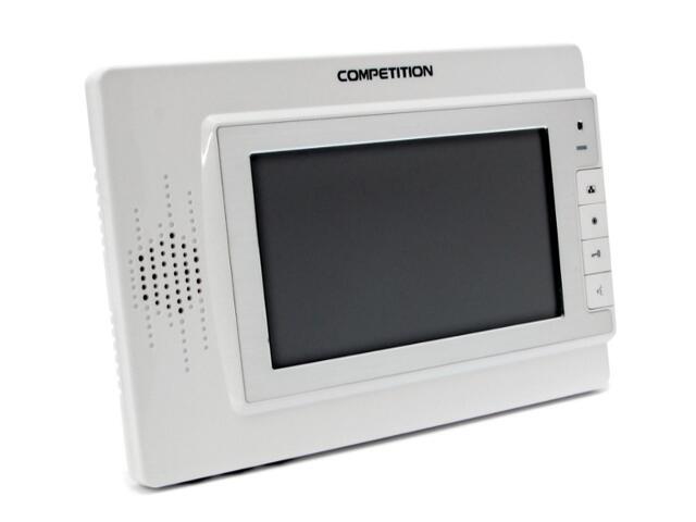 """Monitor do videodomofonu głośnomówiący 7"""" LCD panoramiczny MT320C-CK2W Competition"""