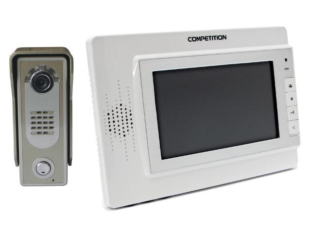 Videodomofon kolorowy 7'' LCD głośnomówiącyMT320C-CK2W+SAC5C-CK Competition